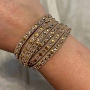 Michale Kors Leather Wrap Bracelet
